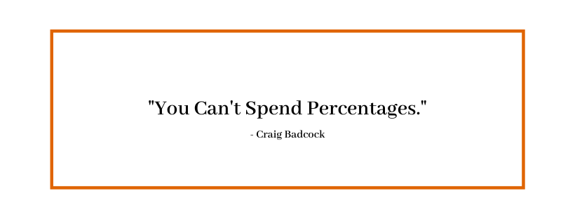 You Can't Spent Percentages